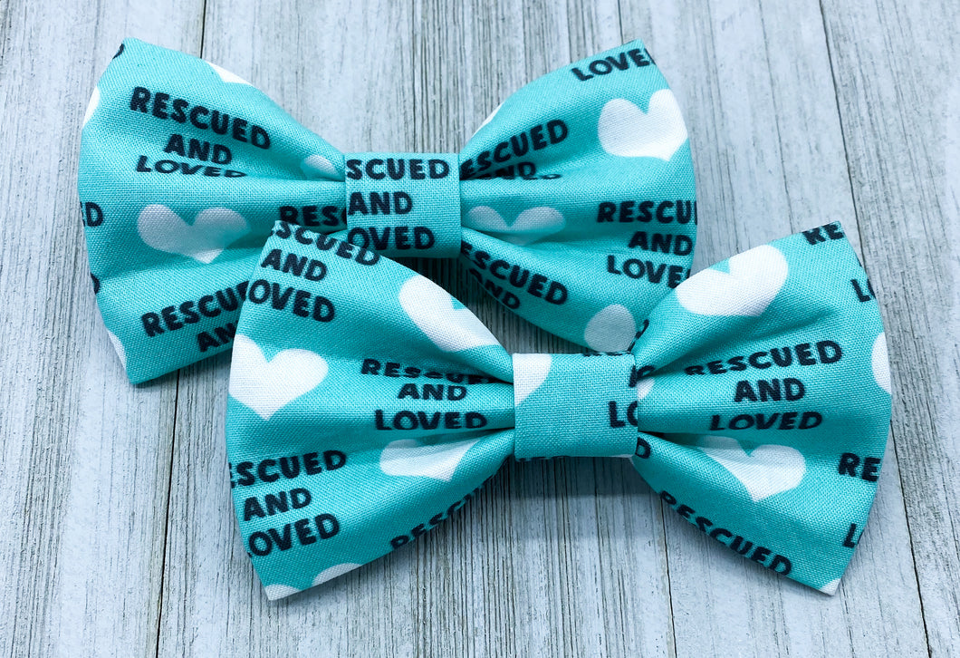Rescued & Loved | Dog Bow Tie