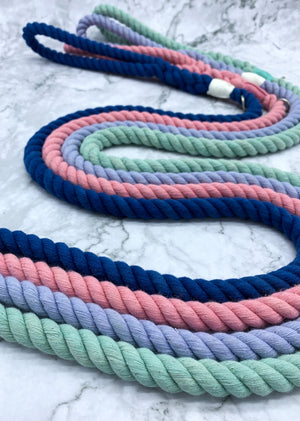 Pastel Purple Dog Rope Leash