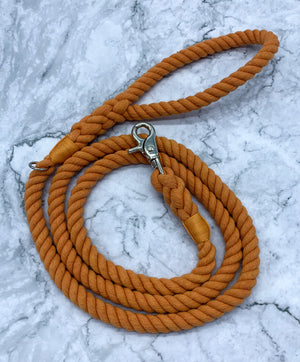 Orange Dog Rope Leash