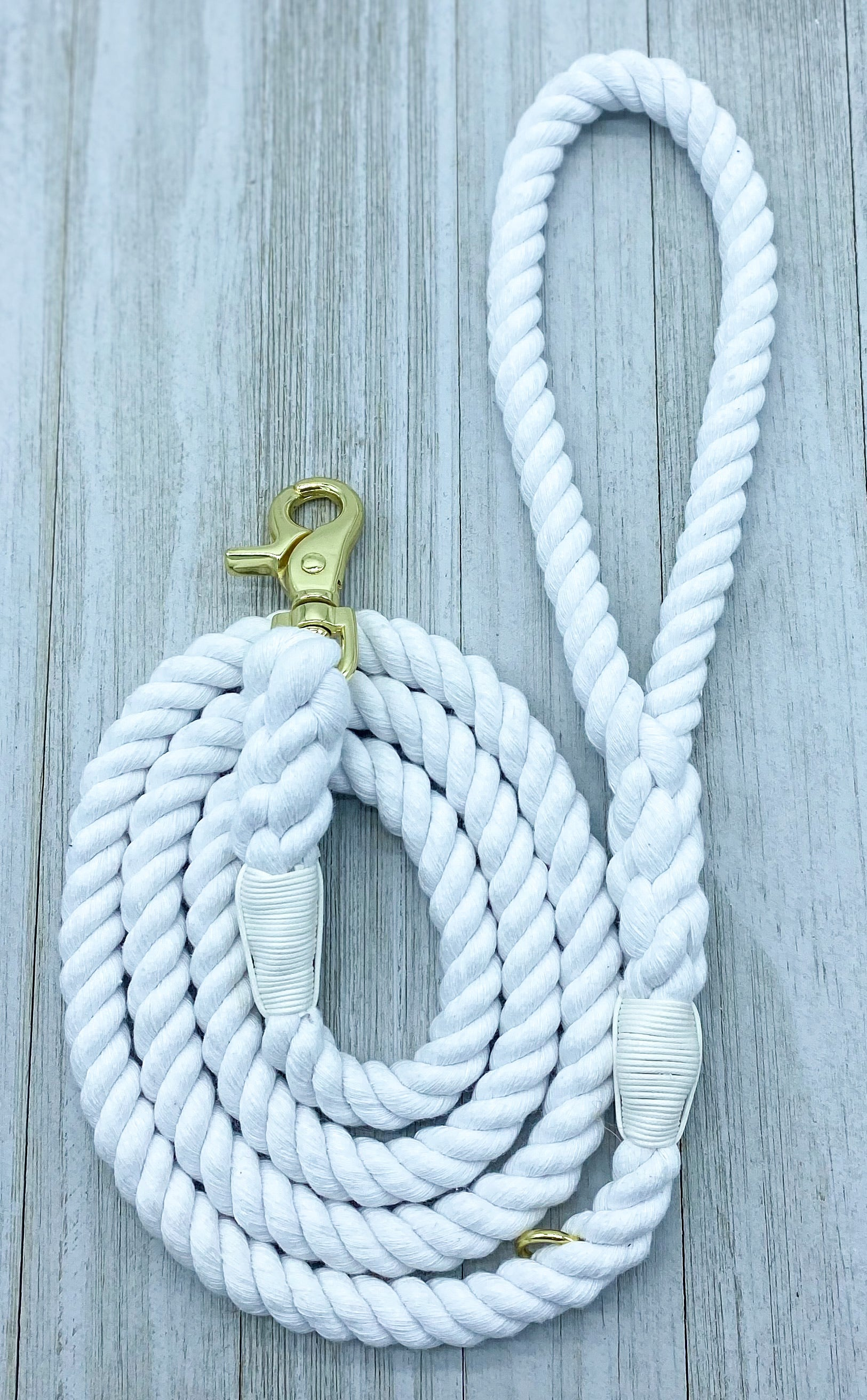 Simply White | Rope Leash