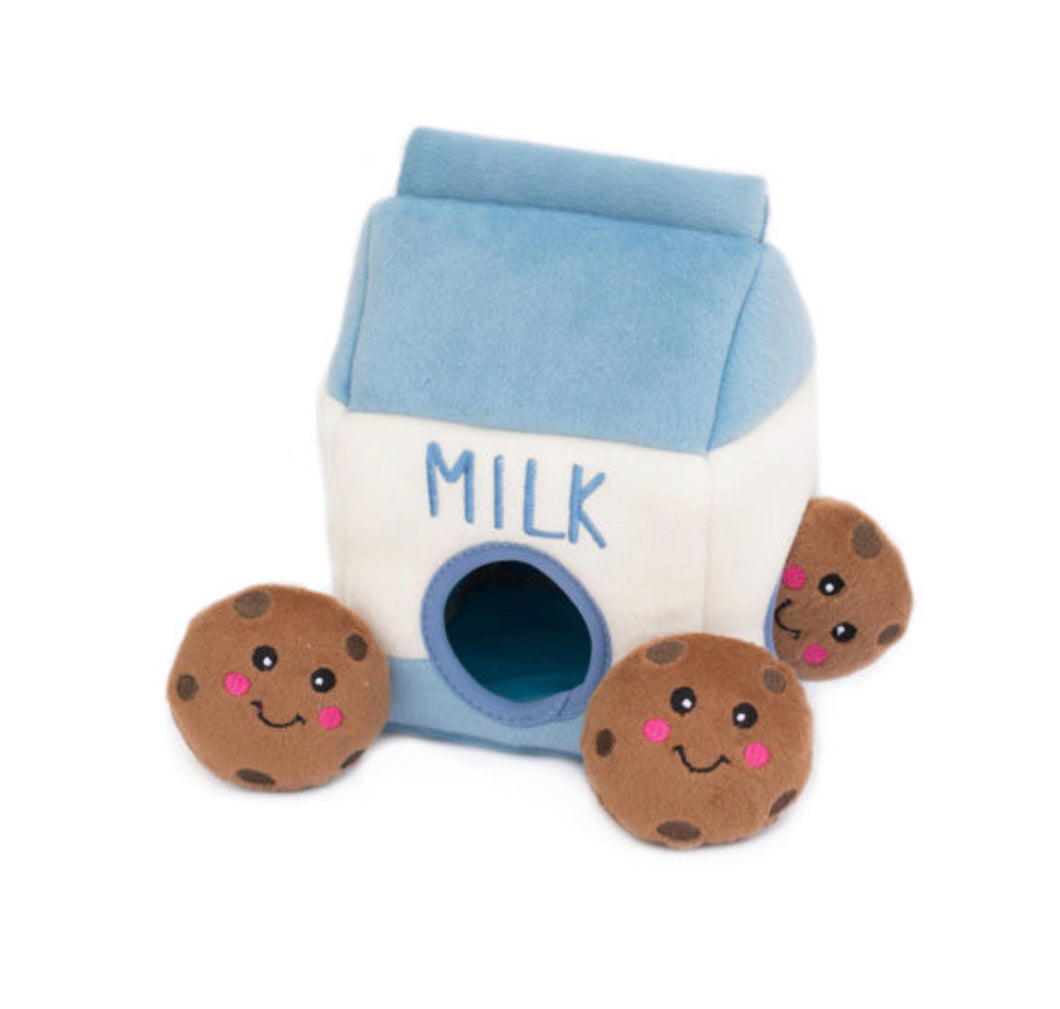Milk & Cookie Burrow | Dog Toy
