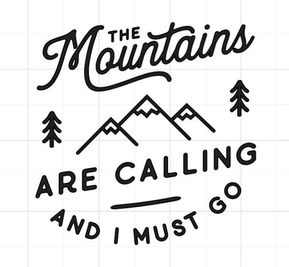 The Mountains Are Calling | Vinyl Add On