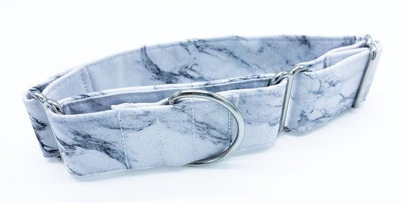 White Marble | Martingale Dog Collar