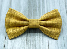 Load image into Gallery viewer, Island Sun | Mustard Yellow Linen Solid | Dog Bow Tie