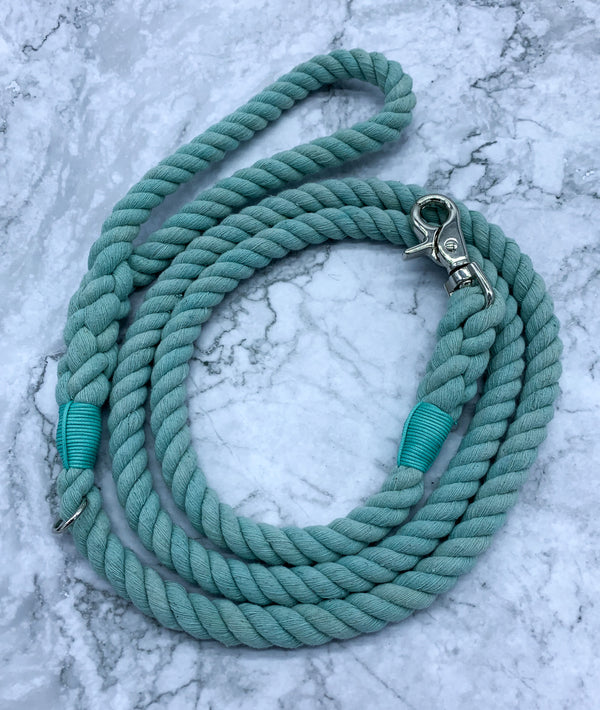 Teal Dog Rope Leash