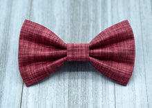 Load image into Gallery viewer, Scarlet | Red Linen Solid | Dog Bow Tie