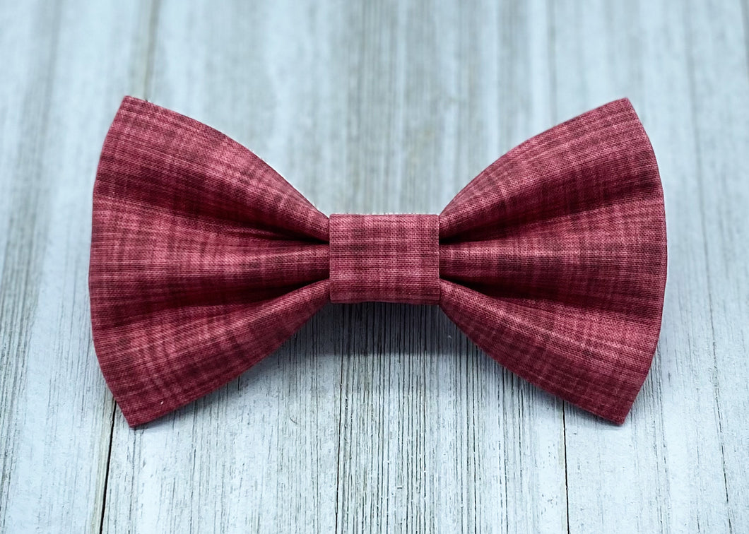 Scarlet | Red Linen Solid | Dog Bow Tie
