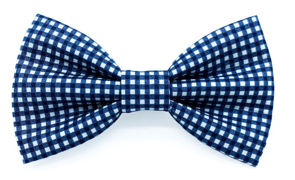 Blue Gingham - Bow Tie