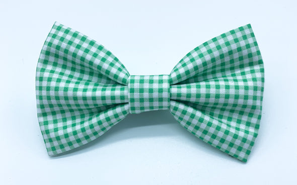 Green Gingham - Bow Tie