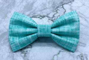 Day Dream - Blue Linen Solid Bow Tie
