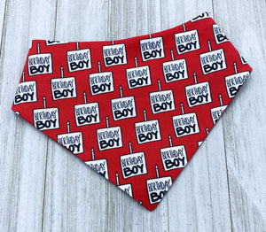 Birthday Boy Red | Dog Bandana