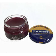 Saphir Shoe Creme Surfine - Jar - 50 Ml - Made in France Burgundy