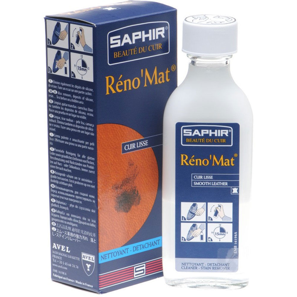 Saphir RenoMat Cleaner and Stain Remover 100ml Bottle