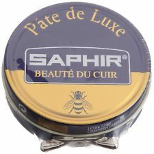 Saphir Shoe Polish - Pate De Luxe - 50 Ml - Made in France Navy Blue