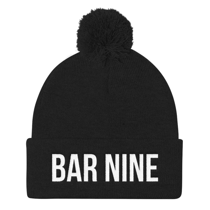 Bar Nine Pom Pom Knit Cap