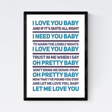 Load image into Gallery viewer, I Love You Baby (Frank Sinatra)