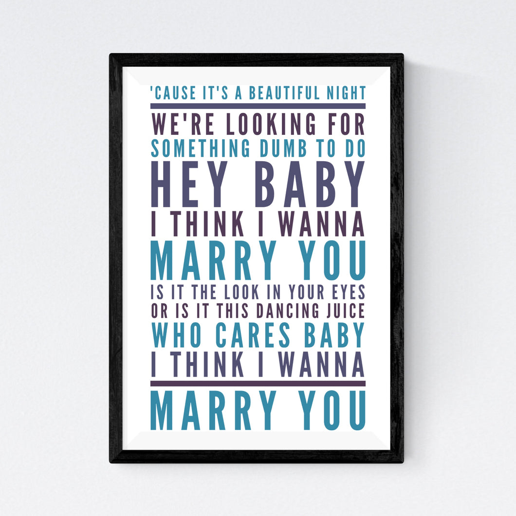 Marry You (Bruno Mars)