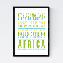 Load image into Gallery viewer, Africa (Toto)