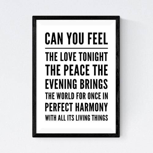 Can You Feel The Love Tonight (Elton John & Tim Rice)