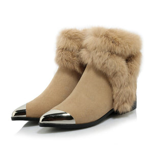 Ankle  Pointed Toes  Suede Boots for Women: bigredbags.com