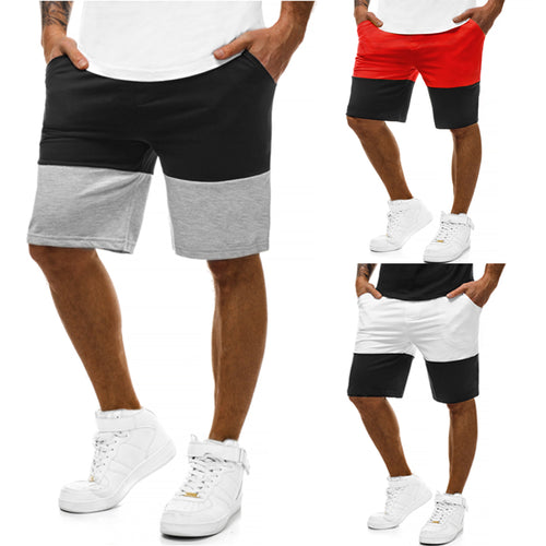 Casual Men's  Patchwork Shorts. Bigredbags.com