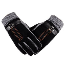 Load image into Gallery viewer, Winter Men's Warm Gloves Natural Suede Leather