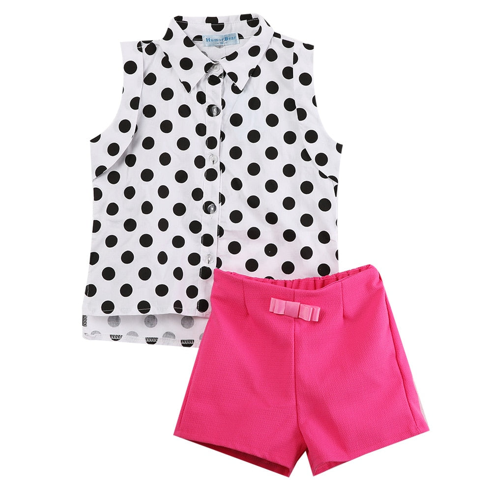 2pce Set Toddler 1-6 y Girls Out-Fits. bigredbags.com