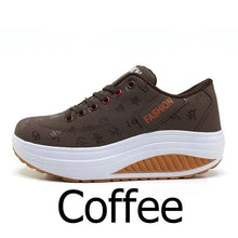 Load image into Gallery viewer, Women Sneakers Height increasing Wedges shoes