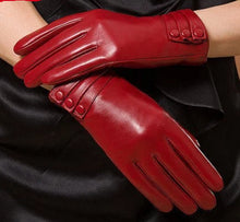 Load image into Gallery viewer, Winter Woman Genuine Leather Gloves