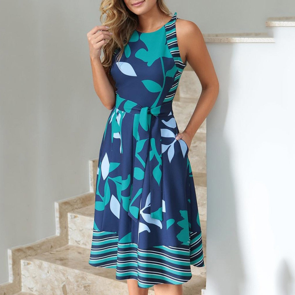 Women Sleeveless Casual Dres