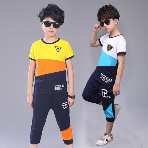 Boys Casual out-fit T-Shirt and Pants; bigredbags.com