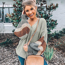 Load image into Gallery viewer, https://www.bigredbags.com:Woman Loose Lantern Sleeve Sweater