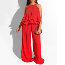 Load image into Gallery viewer, https://www.bigredbags.com: Women Two Pieces Loose pants and Ruffles Top