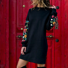 Load image into Gallery viewer, Women Long Sleeve Mini Fashion Dress