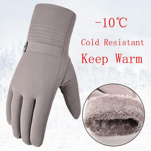 Winter Plus Velvet Thick Warm Leather Gloves for Men: bigredbags.com
