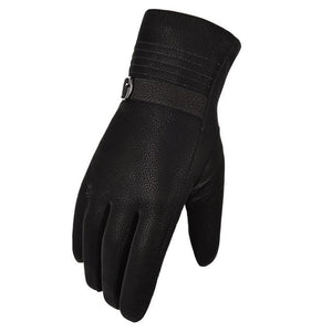 Winter Plus Velvet Thick Warm Leather Gloves for Men:bigrednags.com