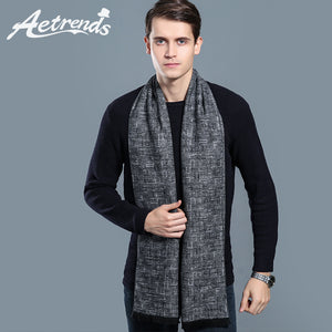 Men Cashmere Winter Plaid Scarf