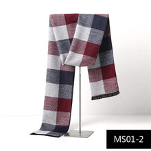Load image into Gallery viewer, Men Cashmere Winter Plaid Scarf