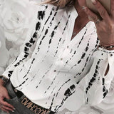 White Long sleeve Blouse Woman's:bigredbags.com