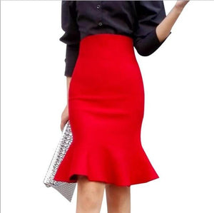 Ladies Vintage Knee Length Skirt :bigredbags.com