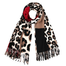 Load image into Gallery viewer, New Women Shawl Wrap With Tassel Animal Leopard Print:https://www.bigredbags.com