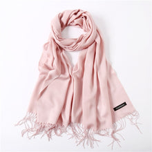 Load image into Gallery viewer,  Ladies Solid Red Pink Thin Winter Scarf :https://www.bigredbags.com