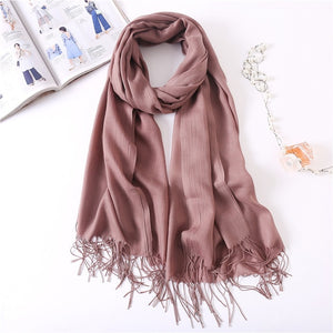 Ladies Solid Red Pink Thin Winter Scarf :https://www.bigredbags.com