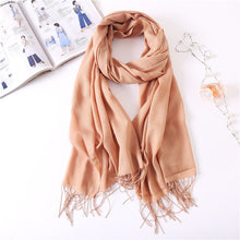 Load image into Gallery viewer, Ladies Solid Red Pink Thin Winter Scarf