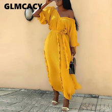 Load image into Gallery viewer, Woman Causal Off Shoulder V-Neck Maxi Dress:https://bigredbagshopping.myshopify.com/