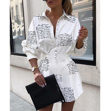 Load image into Gallery viewer, Women Mini dresses Lantern Long Sleeve