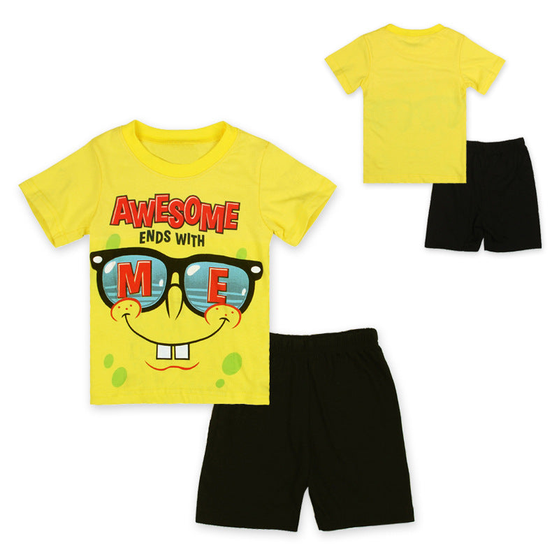 Unisex Cotton Toddler Pants and Tee Set.
