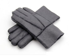 Load image into Gallery viewer, Men Winter Gloves Warm Genuine Sheep Fur Gloves;bigredbags.com