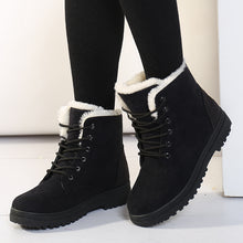 Load image into Gallery viewer, Woman Ankle  low Heel  Winter Boots: bigredbags.com