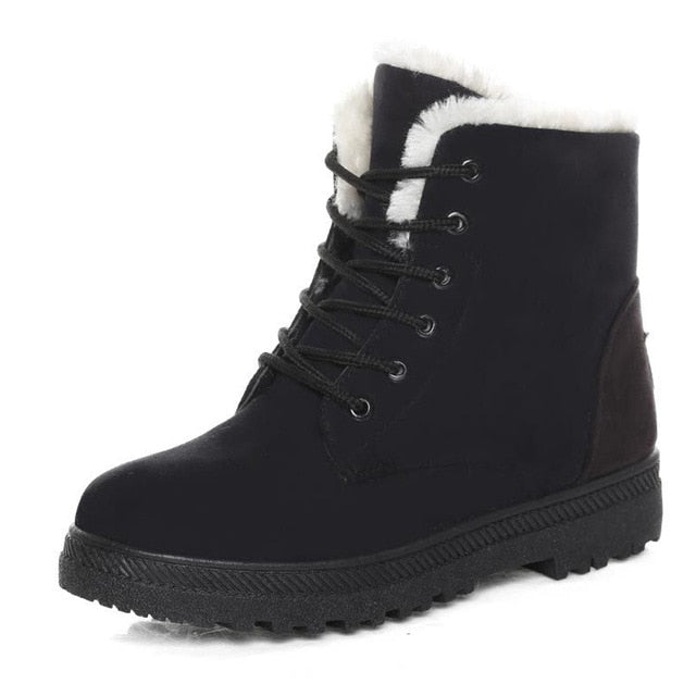 Woman Ankle  low Heel  Winter Boots